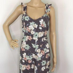 Leith Gray Floral Jumpsuit